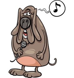 singing dog cartoon vector image vector image