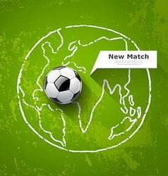 Soccer ball on map world design vector image vector image