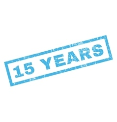 15 Years Rubber Stamp vector