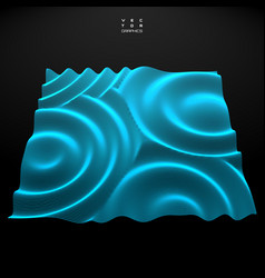 3d wavy surface for technology and science design vector image