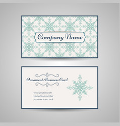 Arabic style business card template vector
