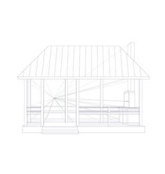Architectural sketch vector