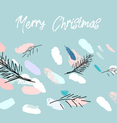 artistic hand drawn unusual christmas design vector image