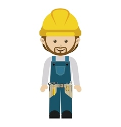 Avatar worker with toolkit and beard vector