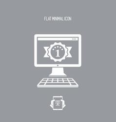 Best computer desktop awards - flat minimal icon vector