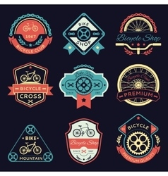 Bicycle and bike color logo vector