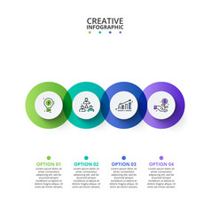 business data visualization abstract elements of vector image