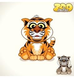 Cartoon Tiger Character vector