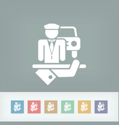 Chauffeur icon vector