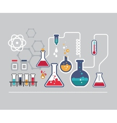 Chemistry infographic vector