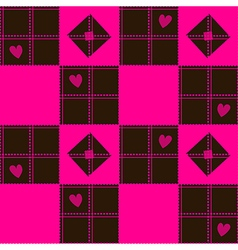 Chessboard Pink Blown Heart Valentine vector