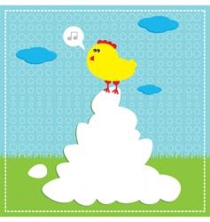 Chicken song vector