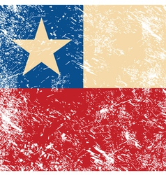 Chile retro flag vector