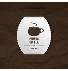 Coffee paper background vector