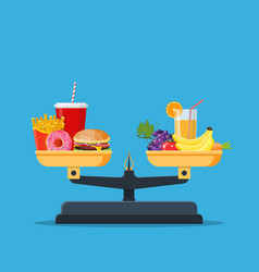 concept of weight loss vector image
