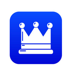 crown icon blue vector image