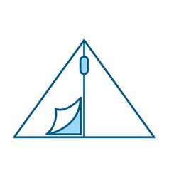 Cute camping tent cartoon vector