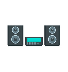 Digital stereo system icon flat style vector