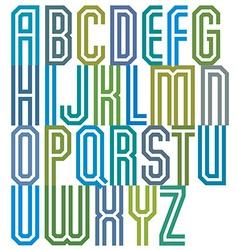 Double line geometric font vector