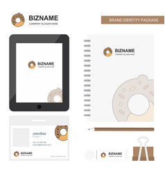 doughnut business logo tab app diary pvc employee vector image
