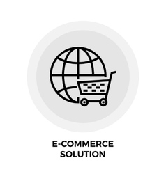E-commerce Solution Line Icon vector image