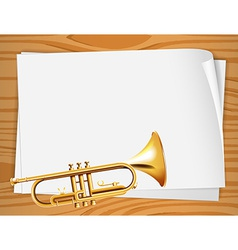 Empty bondpapers with a trombone vector