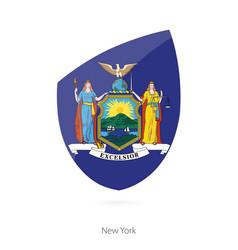 Flag new york vector
