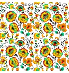 Floral seamless pattern in country style vector image