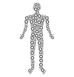 gear man figure vector image