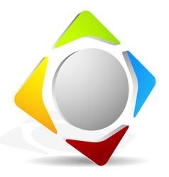 Generic icon with 4-way arrows editable graphics vector