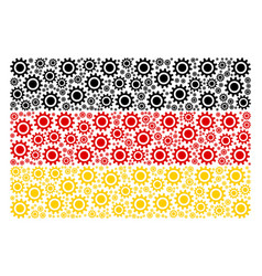germany flag mosaic of cog items vector image