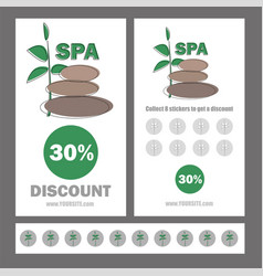 Gift voucher template for spa hotel resort vector