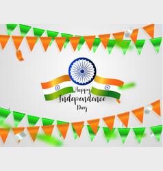 Green orange flags confetti concept design vector