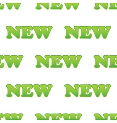 Green word NEW pattern vector