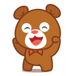 happy bear character art vector image