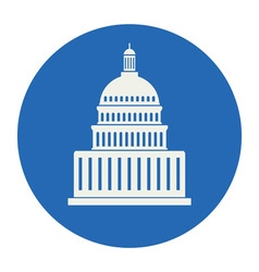 Icon united states capitol hill building vector