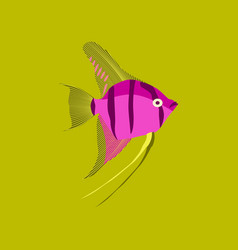 In flat style angelfish vector