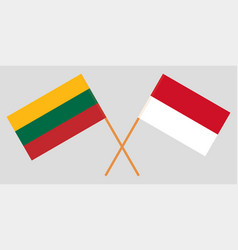 Indonesian and lithuanian flags vector