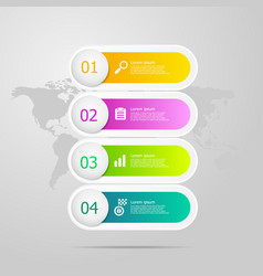 infographics elements layout 4 steps for business vector image