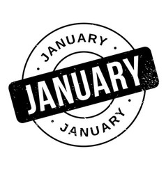January rubber stamp vector