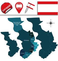 Map antwerp belgium vector