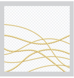 mardi gras golden or bronze color round chain vector image