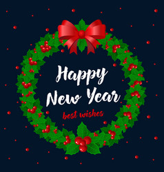 merry christmas and happy new year card holidays vector image