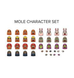 Mole character set vector