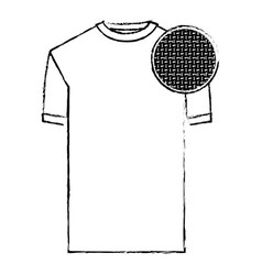 monochrome blurred silhouette of t-shirt man and vector image