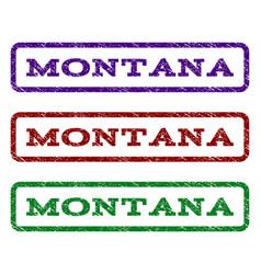 montana watermark stamp vector image