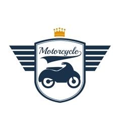 Motorcycle rider design vector