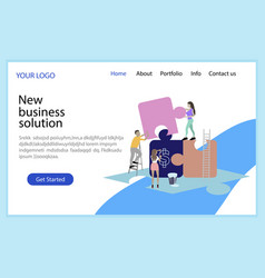 New business solution solve problem business vector