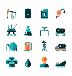 Oil industry icons vector
