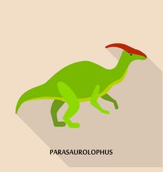 parasaurolophus icon flat style vector image